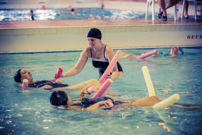 Préparation en piscine
