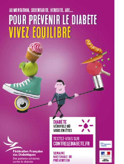 Pour prévenir le diabète, vivez équilibré