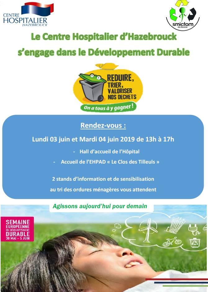 Semaine du développement durable - CH Hazebrouck